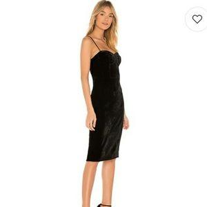 Theory black velvet corset dress
